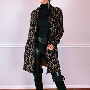 CAbi Black Lace Peacoat Style Coat Size Medium